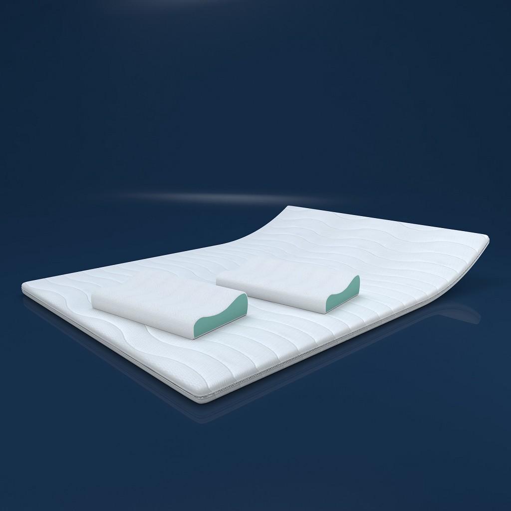 mss kaltschaum topper matratze orthop dische auflage mit versteppten bezug h4 ebay. Black Bedroom Furniture Sets. Home Design Ideas