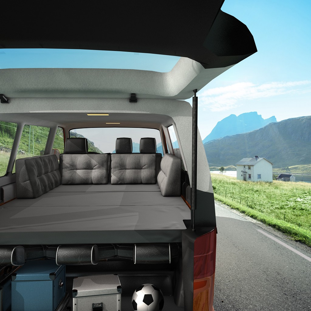 mss vw t4 t5 t6 bus klappmatratze multivan camping. Black Bedroom Furniture Sets. Home Design Ideas