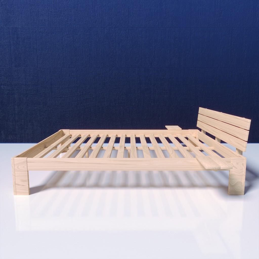 mss holzbett duo doppelbett bettgestell 180 x 200 cm mit 2 matratzen 90x200 ebay. Black Bedroom Furniture Sets. Home Design Ideas